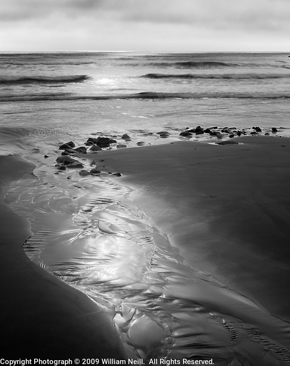 Stream at sunrise, Scarborough State Beach, Rhode Island