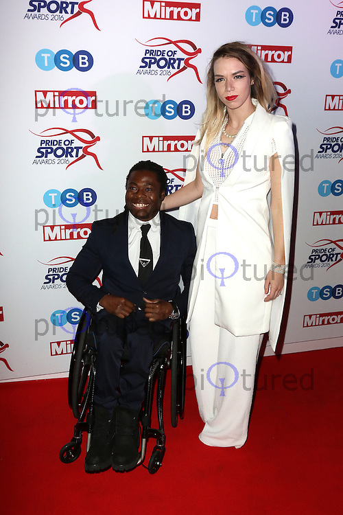 Ade Adepitan, Pride of Sport Awards, Grosvenor House Hotel, London UK, 07 December 2016, Photo by Richard Goldschmidt