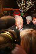 Former Mayor David Dinkins at Sylvia's Restuarant, where a gathering of Influential African-American Politicians called by Rev. Al Sharpton,  decide resolution of the fate of Governor David Patterson on March 4, 2010 in Harlem, New York City