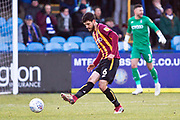Bradford City defender Anthony O'Connor in action during the EFL Sky Bet League 2 match between Macclesfield Town and Bradford City at Moss Rose, Macclesfield, United Kingdom on 30 November 2019.