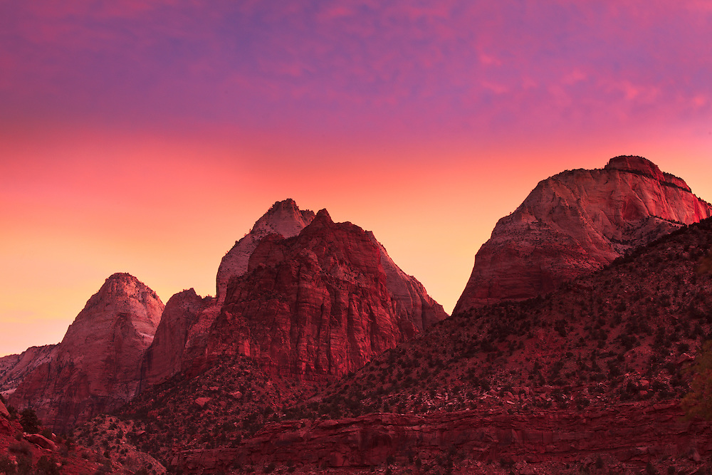 Early morning light in Zion National Park.
