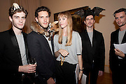 RICHARD STOREY; REID PEPPARD;  RYAN SCOTT; , EXAMPLES OF WORK BY TAXIDERMIST REID PEPPARD, ROYAL ACADEMY CONTEMPORARY CIRCLE FUNDRAISING EVENT. Royal Academy. Piccadilly. London. 30 September 2010. -DO NOT ARCHIVE-© Copyright Photograph by Dafydd Jones. 248 Clapham Rd. London SW9 0PZ. Tel 0207 820 0771. www.dafjones.com.