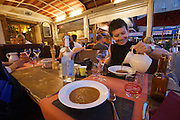 """Fish soup at """"Le Bouchon"""", a cozy restaurant at the Old Harbour."""