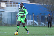 Forest Green Rovers Manny Monthe(6) during the The Central League match between Cheltenham Town Reserves and Forest Green Rovers Reserves at The Energy Check Training Ground, Cheltenham, United Kingdom on 28 November 2017. Photo by Shane Healey.