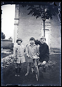 group portrait of children with bicycle France circa 1930s