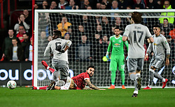 Marlon Pack of Bristol City is fouled by Paul Pogba of Manchester United  - Mandatory by-line: Joe Meredith/JMP - 20/12/2017 - FOOTBALL - Ashton Gate Stadium - Bristol, England - Bristol City v Manchester United - Carabao Cup Quarter Final