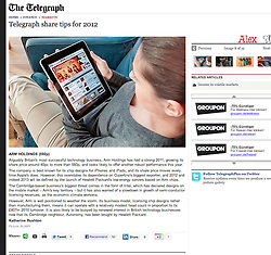 The Telegraph; Woman using iPad