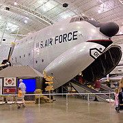 National Museum of the United States Air Force at Wright-Patterson Air Force Base near Dayton, Ohio. The cargo aircraft opens up as part of the exhibit so visitors can walk inside it.