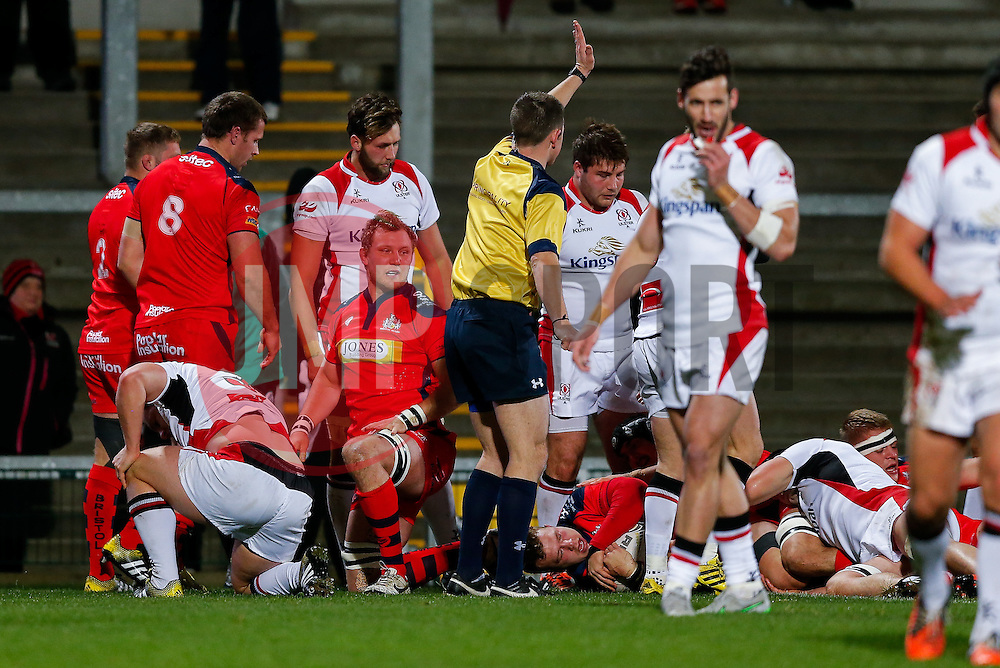 - Mandatory byline: Rogan Thomson/JMP - 13/11/2015 - RUGBY UNION - Kingspan Stadium - Belfast, Northern Ireland - Ulster Ravens v Bristol Rugby - The British & Irish Cup Pool 2.