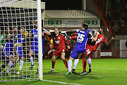 Roarie Deacon of Crawley Town scores the winning goal 2-1 during the Sky Bet League 2 match between Crawley Town and Stevenage at the Checkatrade.com Stadium, Crawley, England on 26 December 2015. Photo by Phil Duncan.