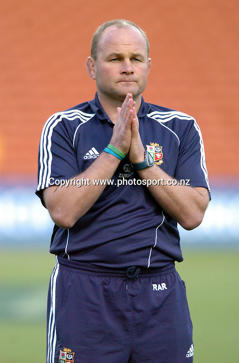CAPTION: LIONS COACH ANDY ROBINSON IS PRAYING HIS TEAM WILL OVERCOME THE MAORI IN TOMORROW EVENINGS CLASH <br />