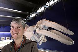 USA ALASKA KODIAK 27JUN12 - Stacy Studebaker, project coordinator for the Kodiak Grey Whale project during a tour at the Bear Visitor Centre in Kodiak, Alaska.....Photo by Jiri Rezac / Greenpeace