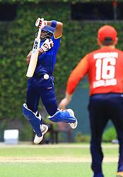 October 5, 2018 - Colombo, Sri Lanka - Sri Lankan cricket captain Dinesh Chandimal reacts to a bouncer ball during the ODI match between England and Sri Lanka Board XI at P Sara Oval cricket ground, Colombo, Sri Lanka...10.05.2018  (Credit Image: © Tharaka Basnayaka/NurPhoto/ZUMA Press)