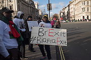 Demonstration outside the Houses of Parliament. London. 2 March 2016