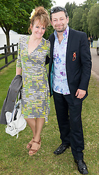 Andy Serkis and Lorraine Ashbourne  at the Cartier Queen's Cup Polo held at the Guards Polo Club in Windsor, Sunday 17th June 2012  Photo by: i-Images
