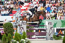 Karin Donckers, (BEL), Fletcha van t Verahof - Jumping Eventing - Alltech FEI World Equestrian Games™ 2014 - Normandy, France.<br /> © Hippo Foto Team - Jon Stroud<br /> 31-08-14