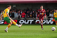 Bristol - Saturday November 7th, 2009: Chris Martin of Norwich City scores his sides 2nd goal during the FA Cup 1st round match at Paulton. (Pic by Alex Broadway/Focus Images)..