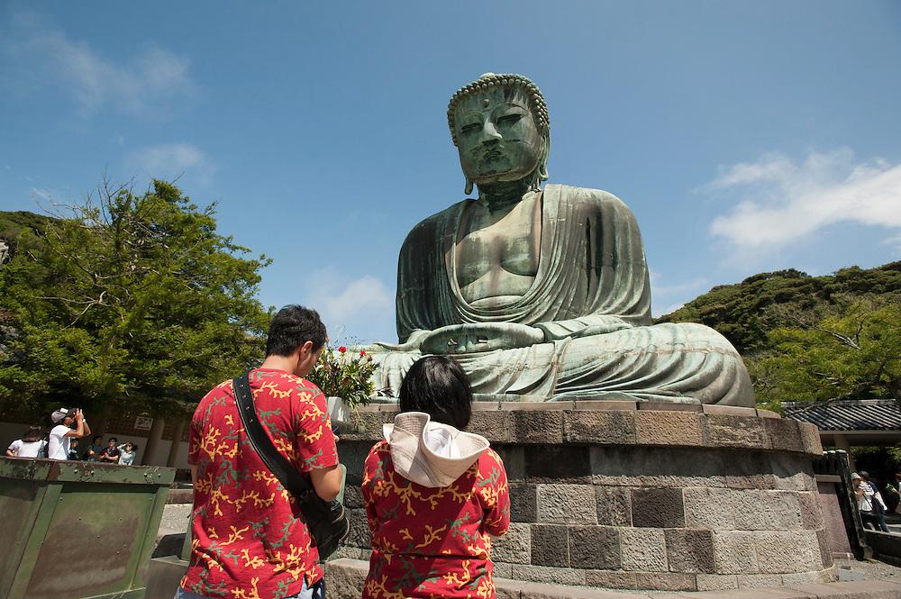 The Daibutsu, or 'Giant Buddha', at Kotoku-in Temple in Kamakura, Japan.