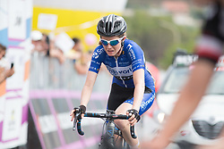 Tetyana Riabchenko (UKR) of Lensworld Zannata Cycling Team finishes in second place on Stage 8 of the Giro Rosa - a 141.8 km road race, between Baronissi and Centola fraz. Palinuro on July 7, 2017, in Salerno, Italy. (Photo by Balint Hamvas/Velofocus.com)