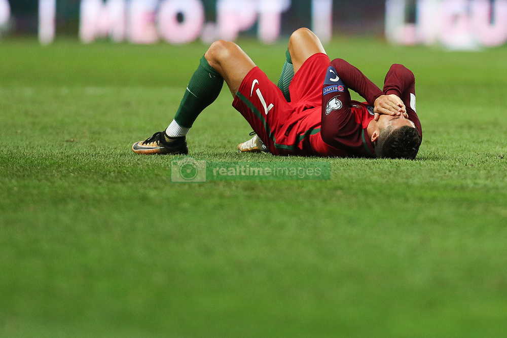 August 31, 2017 - Porto, Porto, Portugal - Portugal's forward Cristiano Ronaldo reacts after suffer hard lack during the FIFA World Cup Russia 2018 qualifier match between Portugal and Faroe Islands at Bessa Sec XXI Stadium on August 31, 2017 in Porto, Portugal. (Credit Image: © Dpi/NurPhoto via ZUMA Press)