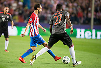 Atletico de Madrid's player Juanfran Torres and Bayern Munich's player David Alaba during match of UEFA Champions League at Vicente Calderon Stadium in Madrid. September 28, Spain. 2016. (ALTERPHOTOS/BorjaB.Hojas)