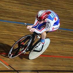 Steven Lammertink eindigde in de middenmoot op de kilometer tijdens het NK in Apeldoorn
