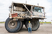 Standing by the tire of a Kress CH-180 coal hauling truck to get a sense of scale.