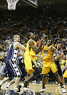 24 JANUARY 2007: Iowa forward Kurt Looby (52) grabs a rebound in front of Penn State forward Milos Bogetic (41) in Iowa's 79-63 win over Penn State at Carver-Hawkeye Arena in Iowa City, Iowa on January 24, 2007.