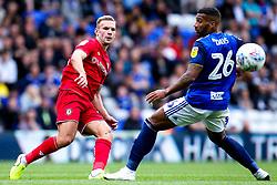 Andi Weimann of Bristol City takes on David Davis of Birmingham City - Mandatory by-line: Robbie Stephenson/JMP - 10/08/2019 - FOOTBALL - St Andrew's Stadium - Birmingham, England - Birmingham City v Bristol City - Sky Bet Championship