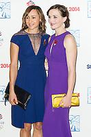 Victoria Pendleton; Jessica Ennis-Hill , British Olympic Ball, Dorchester (Opal Room), London UK, 30 October 2013, Photo by Raimondas Kazenas
