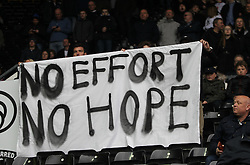 General view as Bolton Wanderers fans show their displeasure at being relegated to league 1 - Mandatory by-line: Jack Phillips/JMP - 09/04/2016 - FOOTBALL - iPro Stadium - Derby, England - Derby County v Bolton Wanderers - Sky Bet Championship