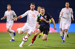 ZAGREB, Nov. 15, 2018  Sergio Ramos (L) of Spain and Ante Rebic (R) of Croatia during the UEFA Nations League A group 4 match between Croatia and Spain at Maksimir stadium in Zagreb, Croatia, on November 15. Croatia won 3:2. (Credit Image: © Marko Prpic/Pixsell/Xinhua via ZUMA Wire)