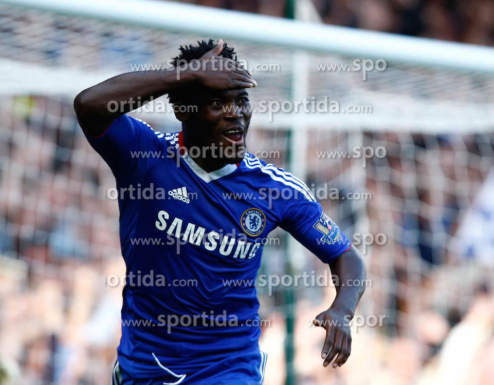 11.09.2010, Boleyn Ground Upton Park, London, ENG, PL, West Ham United vs FC Chelsea, im Bild Chelsea's Ghanaian footballer Michael Essien celebrates his 2nd Goal.  Barclays Premier League West Ham United v Chelsea.at Boleyn Ground Upton Park. EXPA Pictures © 2010, PhotoCredit: EXPA/ IPS/ Kieran Galvin +++++ ATTENTION - OUT OF ENGLAND/UK +++++ / SPORTIDA PHOTO AGENCY