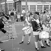 Jazz Band. 1990 Yorkshire Miner's Gala. Rotherham.