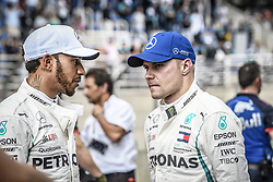 November 10, 2018 - Sao Paulo, Brazil - HAMILTON Lewis (gbr), Mercedes AMG F1 Petronas GP W09 Hybrid EQ Power+, portrait , BOTTAS Valtteri (fin), Mercedes AMG F1 Petronas GP W09 Hybrid EQ Power+, portrait during the 2018 Formula One World Championship, Brazil Grand Prix from November 08 to 11 in Sao Paulo, Brazil -  FIA Formula One World Championship 2018, Grand Prix of Brazil World Championship;2018;Grand Prix;Brazil ,  #77 Valtteri Bottas (FIN, Mercedes AMG Petronas), #44 Lewis Hamilton (GBR, Mercedes AMG Petronas F1 Team),  , #44 Lewis Hamilton (GBR, Mercedes AMG Petronas F1 Team), #77 Valtteri Bottas (FIN, Mercedes AMG Petronas) (Credit Image: © Hoch Zwei via ZUMA Wire)