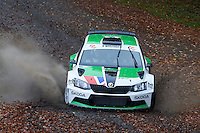 #4 Neil Simpson / Elliott Edmondson Skoda Fabia R5 Bolton-le-Moors / BTRDA Simpsons SKODA Texaco MIS Xpression Eventsduring Neil Howard Memorial Stage Rally, and opening round of the 2015 Motorsport News Rally Championship.  at Oulton Park, Little Budworth, Cheshire, United Kingdom. November 07 2015. World Copyright Peter Taylor. Copy of publication required for printed pictures.  Every used picture is fee-liable. http://archive.petertaylor-photographic.co.uk