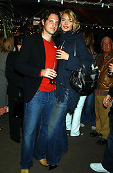 Model JODIE KIDD and MR AIDEN BUTLER at an exclusive evening featuring the greatest talents in fashion today in aid of the African children who have been affected bt the AIDS epidemic held at the Chelsea Gardener, Sydney Street, London on 20th September 2004<br /> <br /> NON EXCLUSIVE - WORLD RIGHTS
