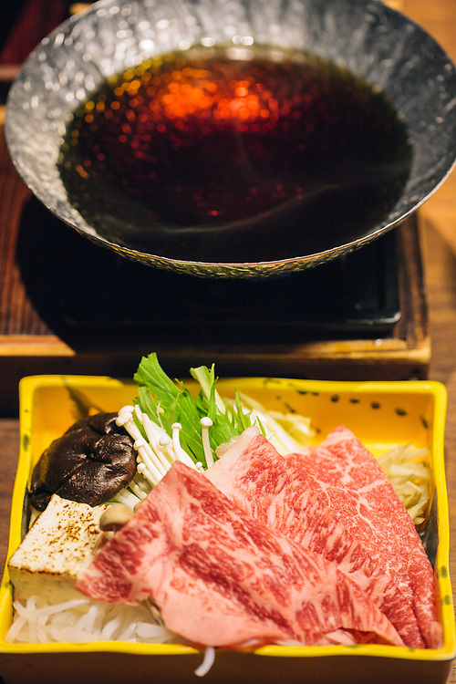 Famous Nagasaki wagyu beef at Unzen Ryokan Fukudaya
