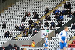 Bristol Rovers away support - Photo mandatory by-line: Dougie Allward/JMP - Tel: Mobile: 07966 386802 14/12/2013 - SPORT - Football - Morecombe - Globe Arena - Morecombe v Bristol Rovers - Sky Bet League Two