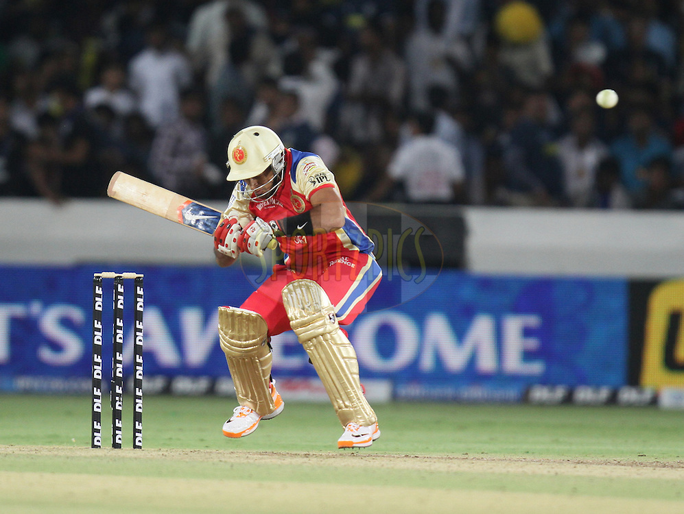 Johan van der Wath leaves a ball during match 11 of the Indian Premier League ( IPL ) between the Deccan Chargers and the Royal Challengers Bangalore held at the Rajiv Gandhi International Cricket Stadium in Hyderabad on the 14th April 2011...Photo by Parth Sanyal/BCCI/SPORTZPICS