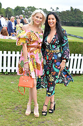 Stephanie Pratt and Andrea Smith at the Laureus King Power Cup polo match held at Ham Polo Club, Richmond, London England. 22 June 2017.<br /> Photo by Dominic O'Neill/SilverHub 0203 174 1069 sales@silverhubmedia.com