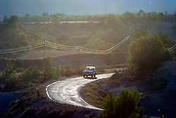 SPAIN ARAGON ANZANIGO 25AUG05 - Twisty road to Jaca cuts through lanscape near Anzanigo in rural Aragon, on the road to Jaca...jre/Photo by Jiri Rezac..© Jiri Rezac 2005..Contact: +44 (0) 7050 110 417.Mobile:  +44 (0) 7801 337 683.Office:  +44 (0) 20 8968 9635..Email:   jiri@jirirezac.com.Web:     www.jirirezac.com..© All images Jiri Rezac 2005 - All rights reserved.