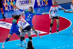 02-12-2019 JAP: Slovenia - Norway, Kumamoto<br /> Second day 24th IHF Women's Handball World Championship, Slovenia lost the second match against Norway with 20 - 36.  BAKKERUD Ingvild Kristiansen of Norway, Nina Zabjek #9 of Slovenia