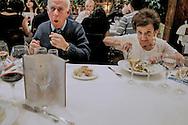 A couple having a dinner at Casa Ojeda restaurant in Burgos (Spain).