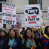 London to commemorate the 58th anniversary of Tibetan