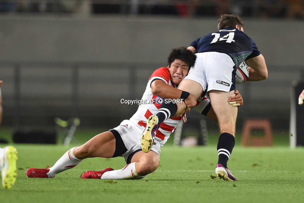 Rikiya Matsuda (JPN), <br /> June 25, 2016 - Rugby : Rugby test match between <br /> Japan 16-21 Scotland <br /> at Ajinomoto Stadium in Tokyo, Japan. <br /> (Photo by AFLO SPORT)