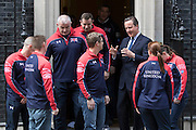 UNITED KINGDOM, London: 27 April 2016 Members of Team Great Britain of the Invictus Games meet Prime Minister David Cameron outside No.10 Downing Street this afternoon. Rick Findler / Story Picture Agency