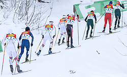 16.12.2017, Nordische Arena, Ramsau, AUT, FIS Weltcup Nordische Kombination, Langlauf, im Bild eine Gruppe von Teilnehmern // a group of competitors during Cross Country Competition of FIS Nordic Combined World Cup, at the Nordic Arena in Ramsau, Austria on 2017/12/16. EXPA Pictures © 2017, PhotoCredit: EXPA/ Martin Huber