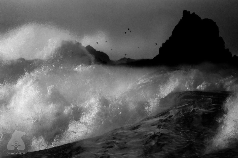 Crashing waves, Island Bay, Wellington, New Zealand.