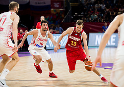 Leni Roko Ukic of Croatia vs Dmitry Khvostov of Russia during basketball match between National Teams of Croatia and Russia at Day 11 in Round of 16 of the FIBA EuroBasket 2017 at Sinan Erdem Dome in Istanbul, Turkey on September 10, 2017. Photo by Vid Ponikvar / Sportida